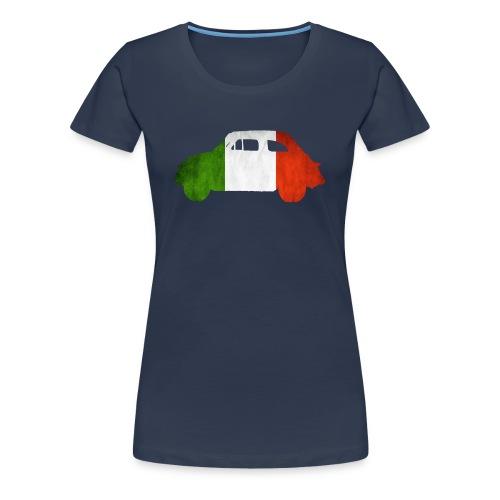 Bandiera Italiana Donna - Frauen Premium T-Shirt