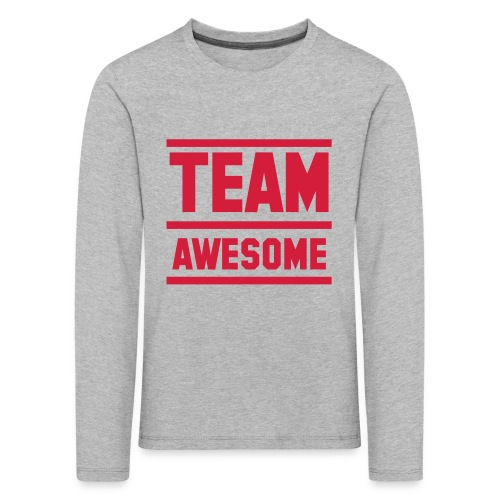 Team Awesome children's shirt - Kinderen Premium shirt met lange mouwen