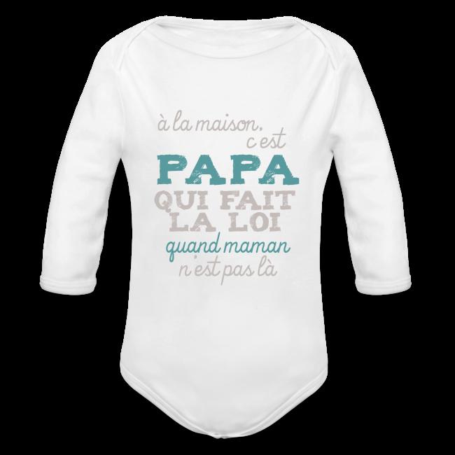 e401dba34aaab Body bébé manches longues Papa fait la loi · Tee shirt ...