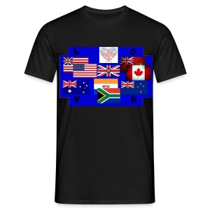 TS NOIR HOMME PAYS ANGLOPHONES - T-shirt Homme