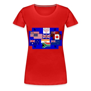 TS ROUGE FEMME PAYS ANGLOPHONES - T-shirt Premium Femme
