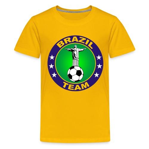Brazil sport 09 - Teenage Premium T-Shirt