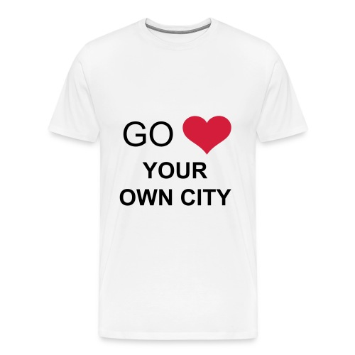 Go Love Your Own City - Mannen Premium T-shirt