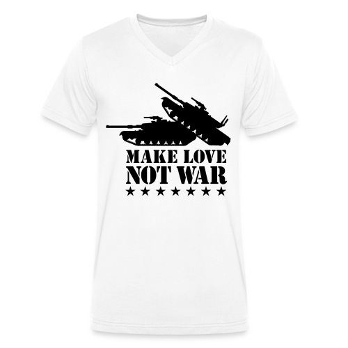 Make Love, Not War - Mannen bio T-shirt met V-hals van Stanley & Stella