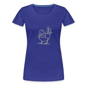 Ladies Bird T (Grey Print) - Women's Premium T-Shirt