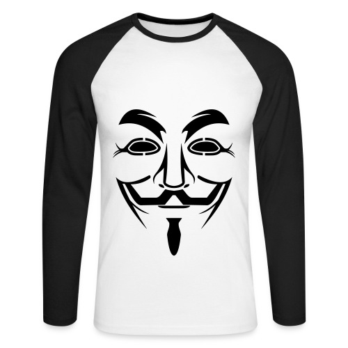 T-shirt baseball manches longues Anonymous - T-shirt baseball manches longues Homme