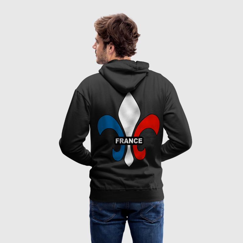 france - fleur de lys Sweat-shirts - Sweat-shirt à capuche Premium pour hommes