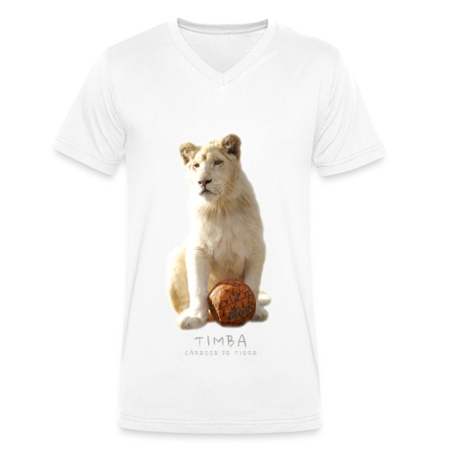 T-Shirt Homme V Timba ballon 2 - T-shirt bio col V Stanley & Stella Homme