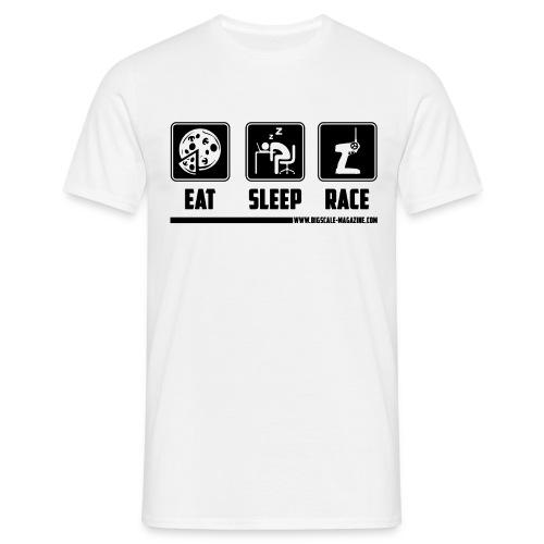 Eat, Sleep, Race - Schwarzer Druck - Männer T-Shirt