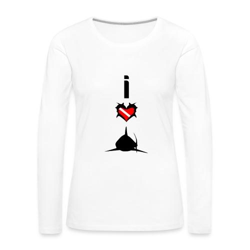 I Love Sharks - Women's Premium Longsleeve Shirt