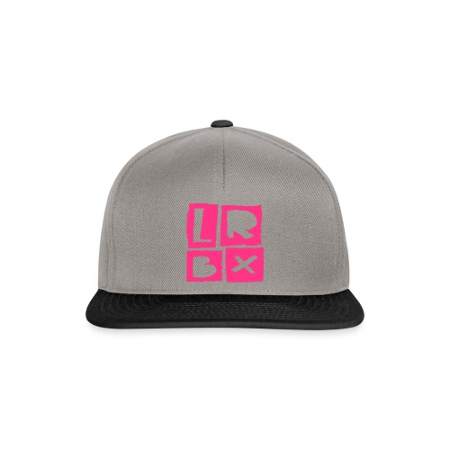 LRBX Cap Light Grey / Funky Pink ! - Casquette snapback