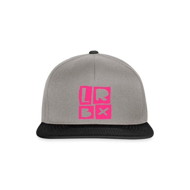 LRBX Cap Light Grey / Funky Pink !