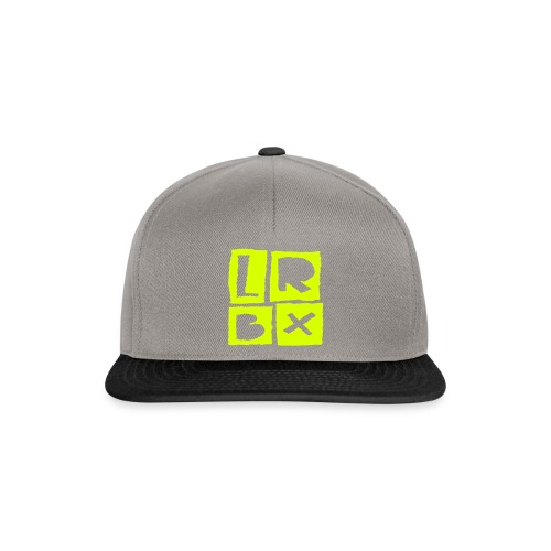 LRBX Cap Light Grey / Neon Yellow - Casquette snapback