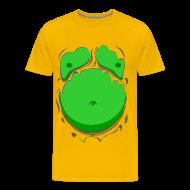 T-Shirts ~ Men's Premium T-Shirt ~ Comic Fat Belly Green, beer gut, beer belly, chest t-shirt