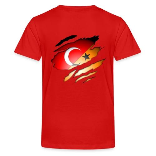 (T-Shirt) Turks/Dutch Inside: Orange - Teenager Premium T-shirt