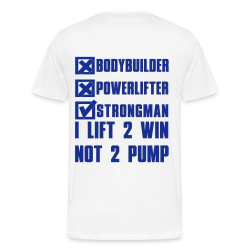 LIFT 2 WIN STRONGMAN FINLAND T-SHIRT - Men's Premium T-Shirt