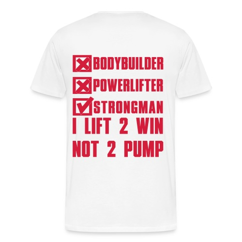 LIFT 2 WIN STRONGMAN ENGLAND T-SHIRT - Men's Premium T-Shirt