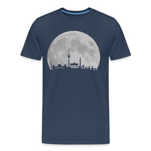 Moon over Berlin - Herre premium T-shirt