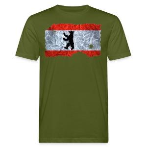 Berlin Flagge vintage shirt used look - Männer Bio-T-Shirt