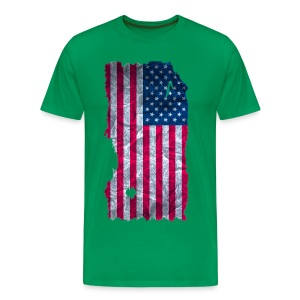 USA Flagge Shirt vintage used look - Männer Premium T-Shirt