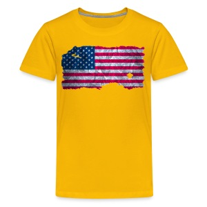 USA Flagge Shirt vintage used look - Teenager Premium T-Shirt