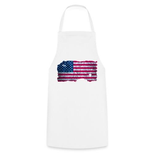USA Flagge vintage used look - Kochschürze