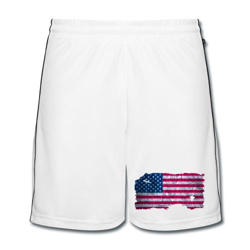 USA Flagge vintage used look - Männer Fußball-Shorts