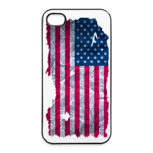 USA Flagge vintage used look - iPhone 4/4s Hard Case