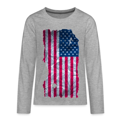 USA Flagge vintage used look - Teenager Premium Langarmshirt