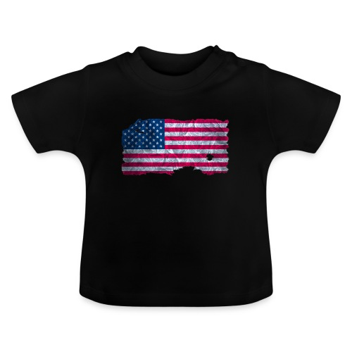 USA Flagge Shirt vintage used look - Baby T-Shirt