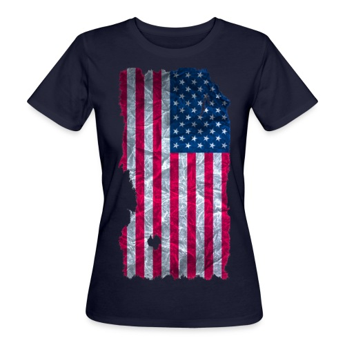USA Flagge Shirt vintage used look - Frauen Bio-T-Shirt
