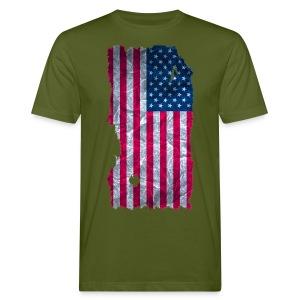 USA Flagge shirt vintage used look - Männer Bio-T-Shirt