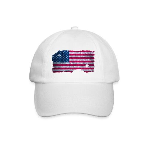 USA Flagge vintage used look - Baseballkappe