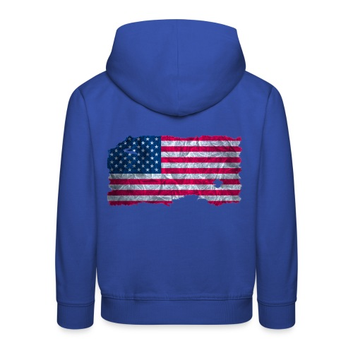 USA Flagge Kapuzenpullover vintage used look - Kinder Premium Hoodie