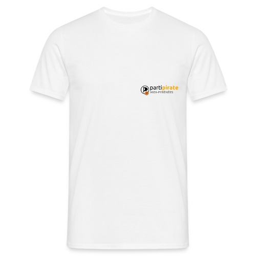 Tee-shirt blanc Parti Pirate Midi-Pyrénées - T-shirt Homme