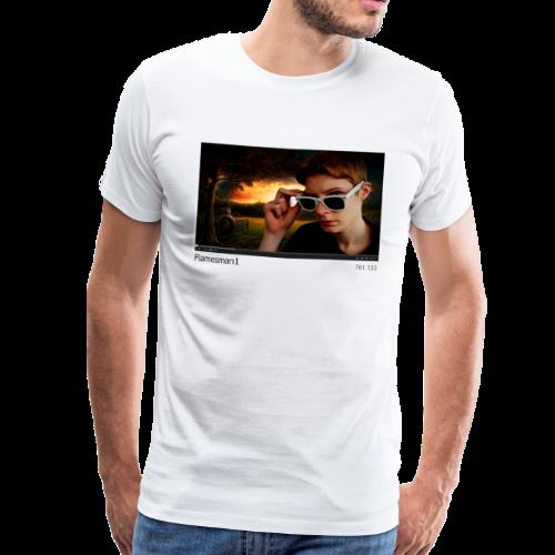 Flamesman1 på YouTube (unisex) - Herre premium T-shirt