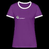 Tee shirts ~ Tee shirt contraste Femme ~ Tee-shirt Femme mauve Parti Pirate