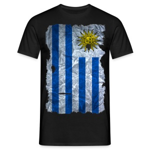 Uruguay Flagge Shirt vintage used look - Männer T-Shirt
