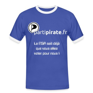 Tee-shirt Parti Pirate NSA yes we scan - T-shirt contrasté Homme