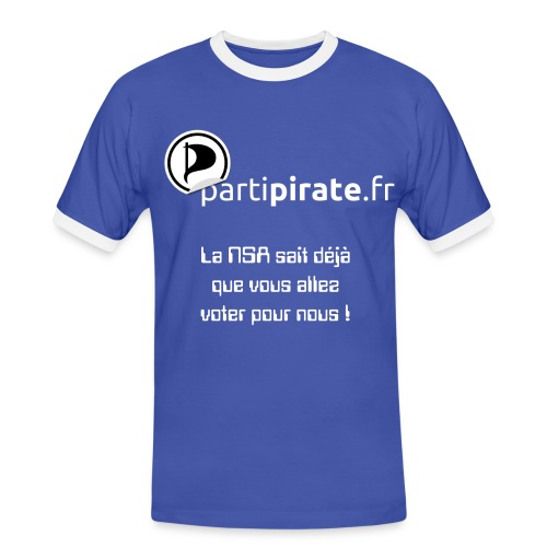 Tee-shirt Parti Pirate NSA yes we scan - T-shirt contraste Homme