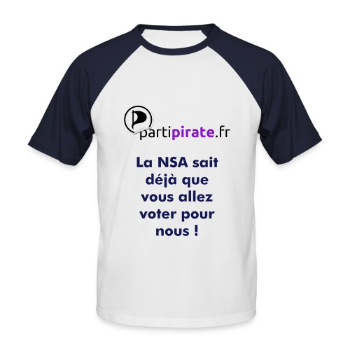 Tee-shirt Parti Pirate NSA - T-shirt baseball manches courtes Homme