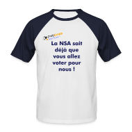 Tee shirts ~ Tee shirt baseball manches courtes Homme ~ Tee-shirt So-Pirate Parti Pirate Sud-Ouest NSA