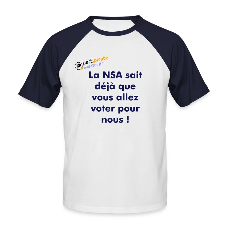 Tee-shirt So-Pirate Parti Pirate Sud-Ouest NSA - T-shirt baseball manches courtes Homme