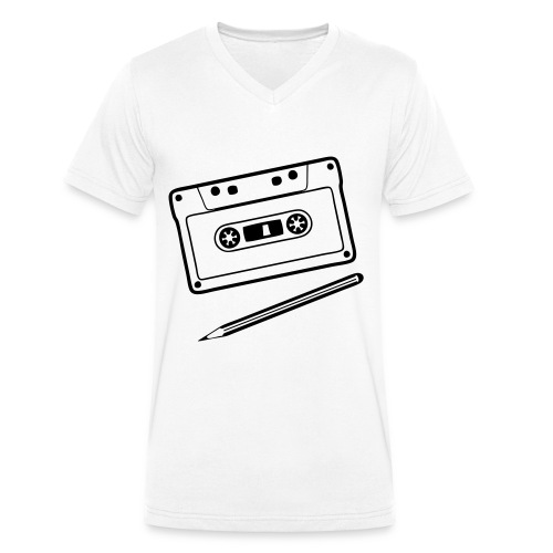 I LOVE MUSIC - Camiseta ecológica hombre con cuello de pico de Stanley & Stella