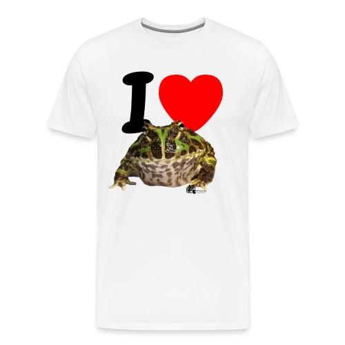 T-Shirt - I love Pacman Frogs - Männer Premium T-Shirt