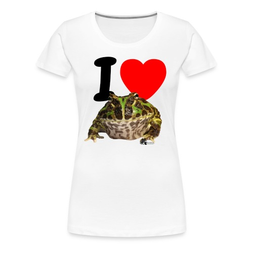 T-Shirt - I love Pacman Frogs - Frauen Premium T-Shirt