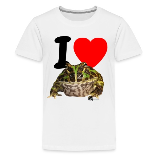 T-Shirt - I love Pacman Frogs - Teenager Premium T-Shirt