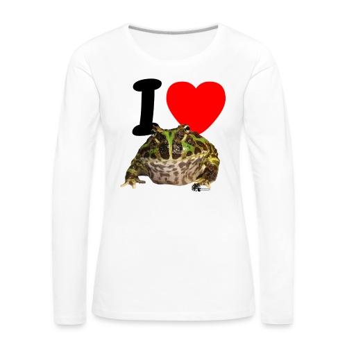 Langarm-Shirt - I love Pacman Frogs - Frauen Premium Langarmshirt