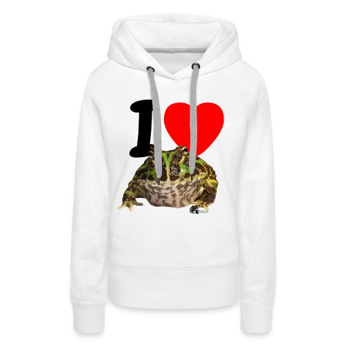 Kapuzen-Pullover - I love Pacman Frogs - Frauen Premium Hoodie