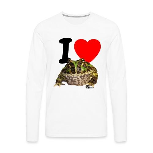 Langarm-Shirt - I love Pacman Frogs  - Männer Premium Langarmshirt